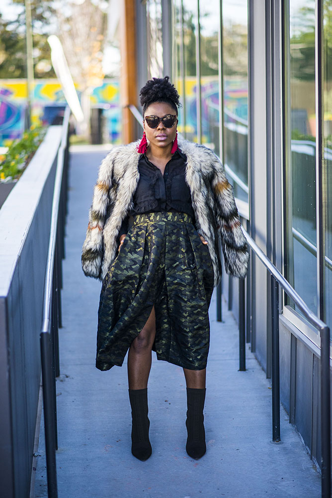 Mixed textures and prints for Fall